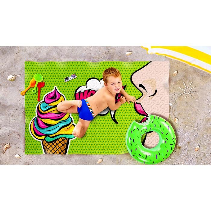 Пляжное покрывало «Айс», размер 90 × 140 см