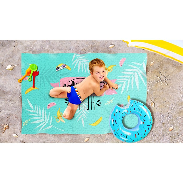 Пляжное покрывало «Веселое лето», размер 90 × 140 см