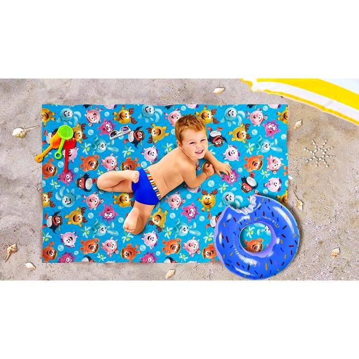 Пляжное покрывало «Веселая команда», размер 90 × 140 см