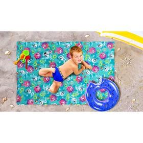 Пляжное покрывало «Спортивные смешарики», размер 90 × 140 см