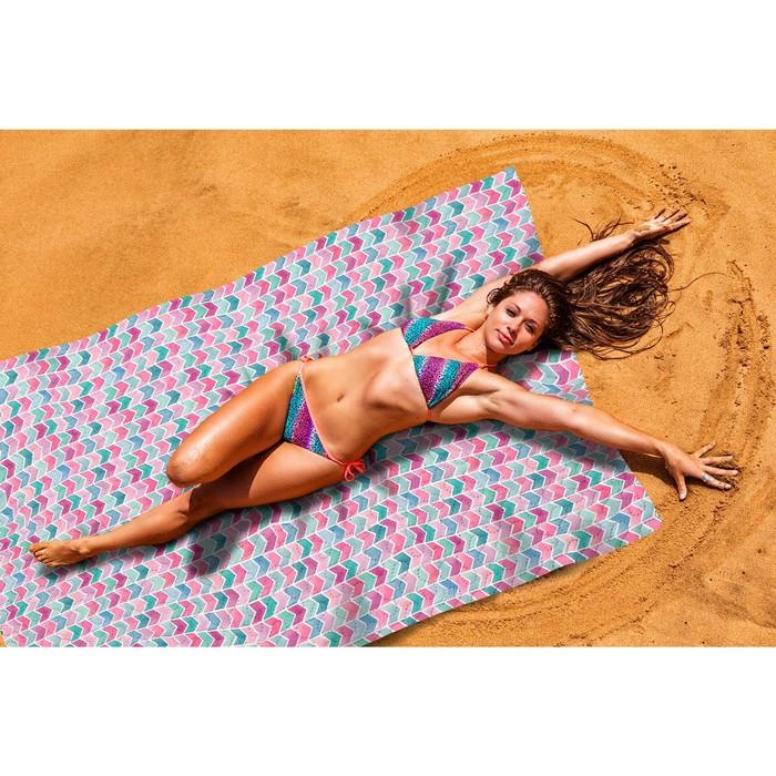 Пляжное покрывало «Акварельное море», размер 145 × 200 см