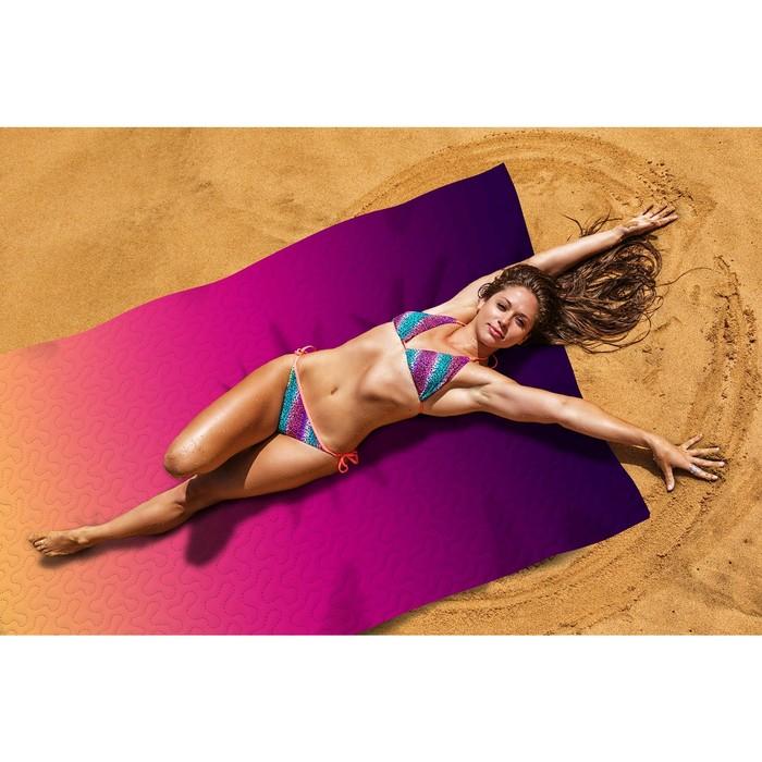 Пляжное покрывало «Багровый закат», размер 145 × 200 см