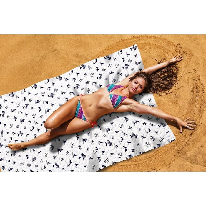 Пляжное покрывало «Булли», размер 145 × 200 см