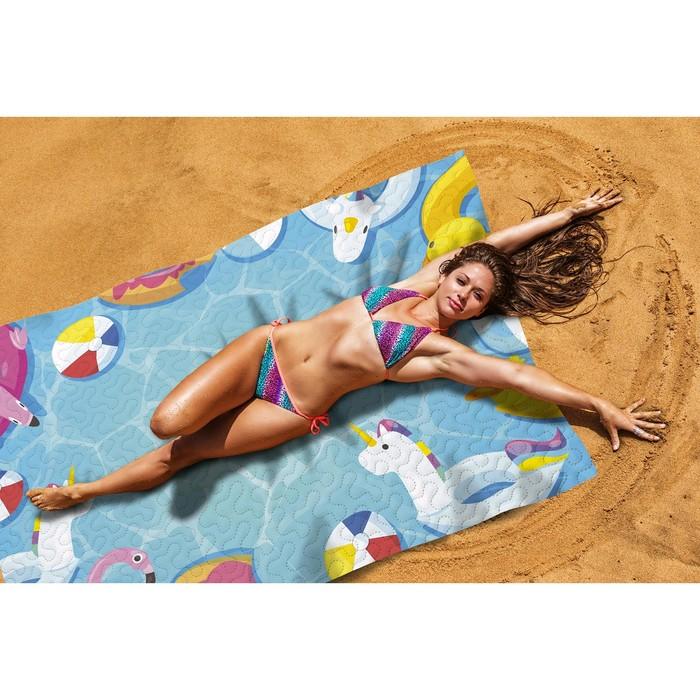 Пляжное покрывало «Веселые каникулы», размер 145 × 200 см