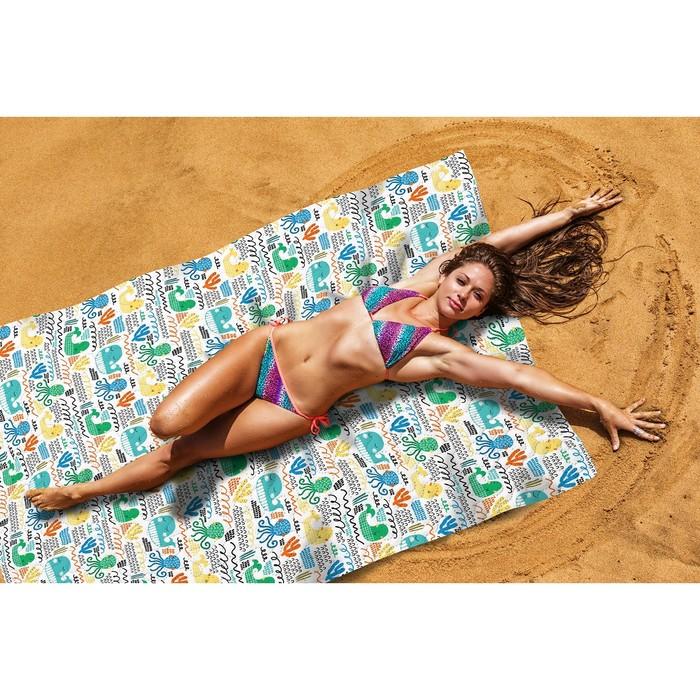 Пляжное покрывало «Веселый осьминожек», размер 145 × 200 см