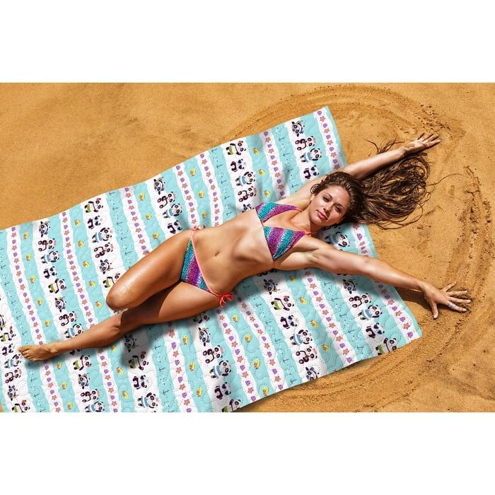 Пляжное покрывало «Веселые панды», размер 145 × 200 см