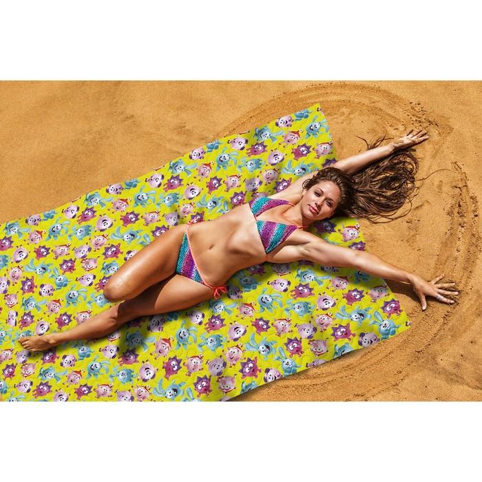 Пляжное покрывало «Веселые смешарики», размер 145 × 200 см