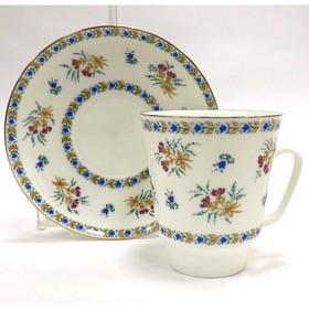 Чашка с блюдцем «Голубой колокольчик», 165 мл