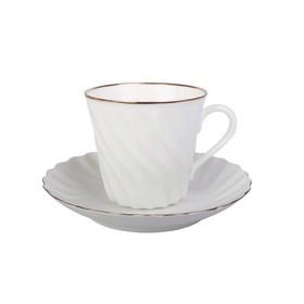 Чашка с блюдцем «Золотой кантик», 155 мл