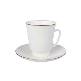 Чашка с блюдцем «Золотой кантик», 165 мл