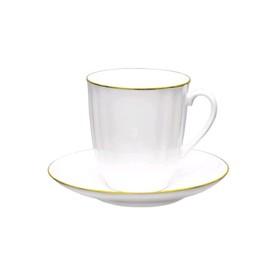 Чашка с блюдцем «Золотой кантик», 176 мл