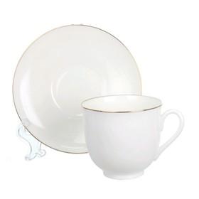 Чашка с блюдцем «Золотой кантик», 180 мл