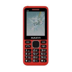"Сотовый телефон MAXVI C25 2,4"", 32Мб, microSD, 2 sim, красный"
