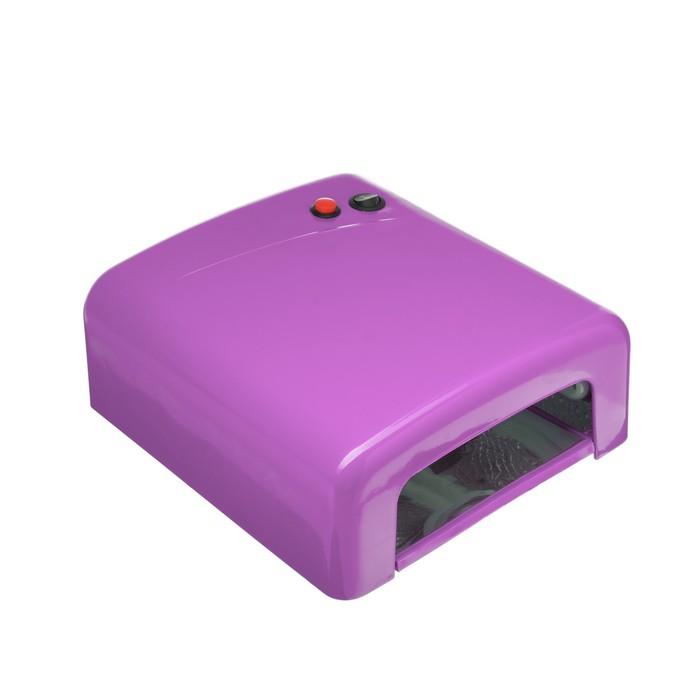 Лампа для гель лака Luxury, UV, 36 Вт, таймер 120 сек, фиолетовая