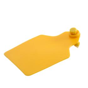 Бирка двойная, ушная, 60 × 80 мм, под щипцы, жёлтая «Большая»