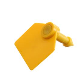 Бирка двойная, ушная, 35 × 30 мм, под щипцы, жёлтая, «Малая»