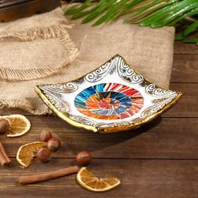 Тарелка декоративная 'Элли' керамика 14х14х3 см Ош