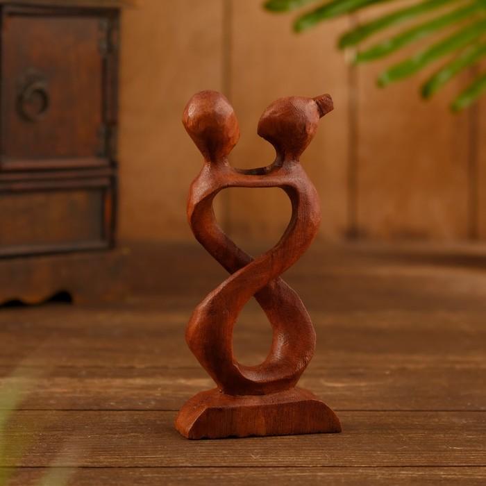 Сувенир дерево Пара Бесконечность коричневый цвет 15х7х2,5 см