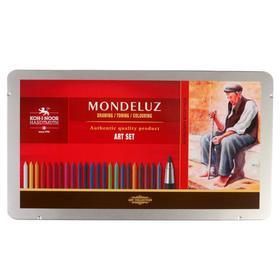 Набор художественный Koh-i-noor Mondeluz, 32 предмета, металлическая коробка Ош