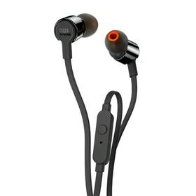 Наушники JBL T210 Black вакуумные, с микрофоном, проводные, чёрные