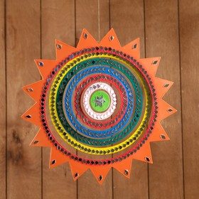 Сувенир подвесной 'Солнышко' МДФ 33х33х0,5 см Ош