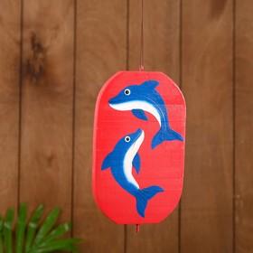 Сувенир подвесной 'Дельфины' дерево 12х13х15 см Ош