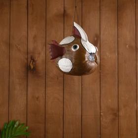 Сувенир из кокоса 'Рыбка коричневая' подвесной 33х25х24 см Ош