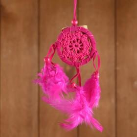 Ловец снов 'Спокойствие' розовый 6х0,5х20 см Ош