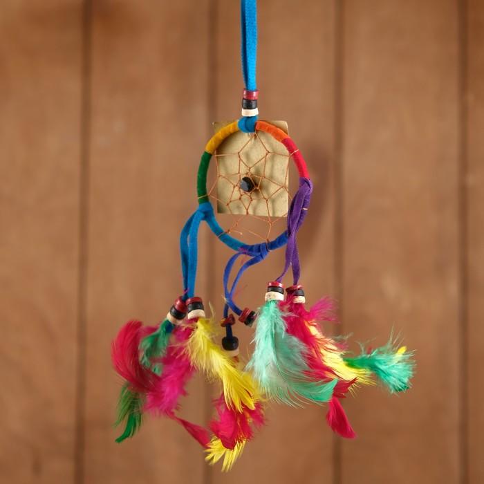 Ловец снов Гармония разноцветный яркие перья 6х0,5х20 см