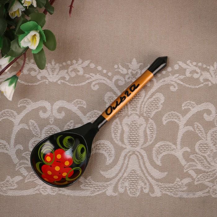 Ложка сувенирная, именная Ольга, хохлома