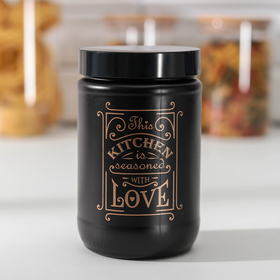 Банка для сыпучих продуктов Herevin «Любовь на кухне», 660 мл