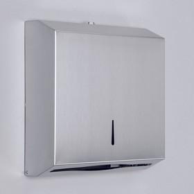 Диспенсер для бумажных полотенец EFOR «Практик», на 300 полотенец, нержавеющая сталь