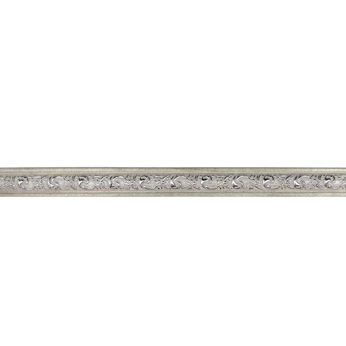 Багет Триумф Белобежевый Silver, 2500х30х12 мм