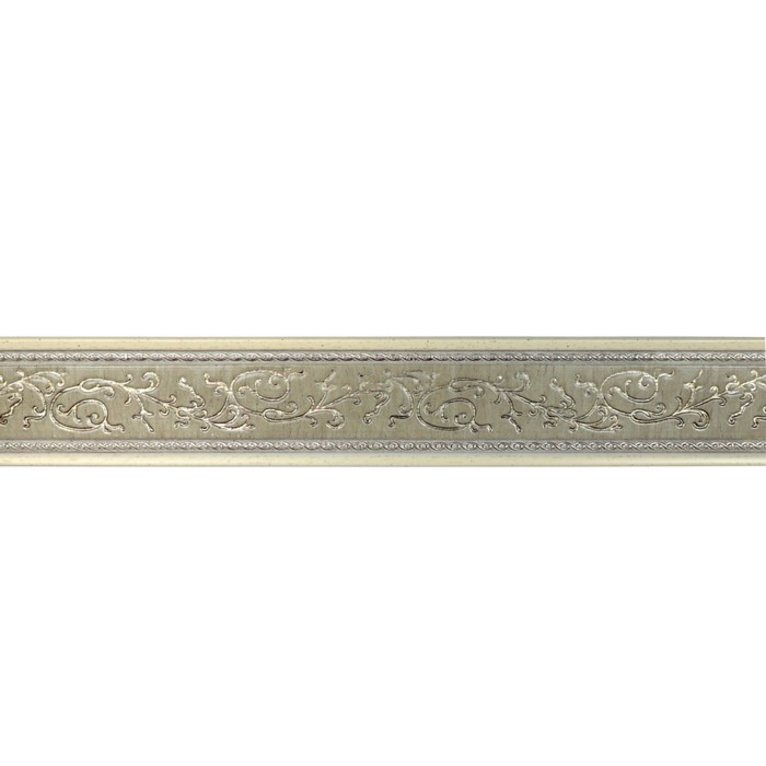 Багет Неаполь Белобежевый Gold, 2500х70х10 мм