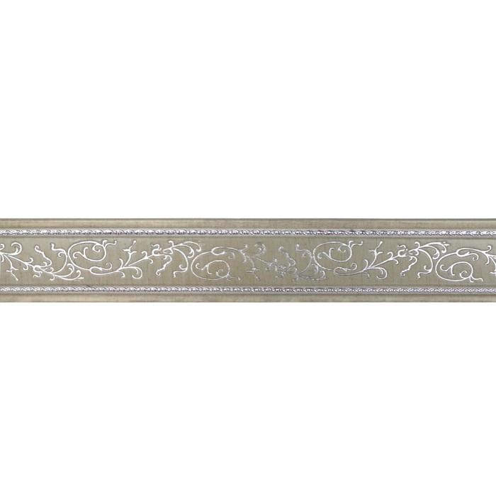 Багет Неаполь Белобежевый Silver, 2500х70х10 мм