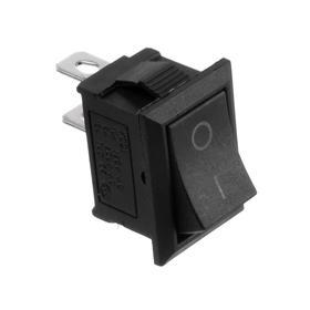 Клавишный выключатель, 250 В, 6 А, ON-OFF, 2c, черный, розничная упаковка. Ош