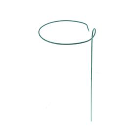 Кустодержатель для цветов, d = 15 см, h = 30 см, ножка d = 0.3 см, металл, зелёный Ош
