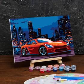 Картина по номерам на холсте с подрамником «Спорткар» 20×30 см