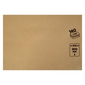 Крафт-бумага, 210 х 120 мм, 140 г/м², коричневая
