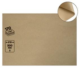 Крафт-бумага, 210 х 120 мм, 170 г/м², коричневая