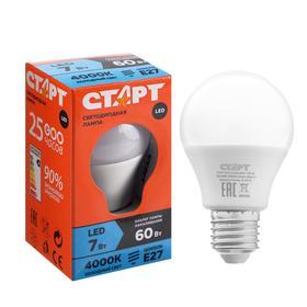 """Лампа светодиодная """"Старт"""", E27, 7 Вт, 4000 К, холодный свет"""