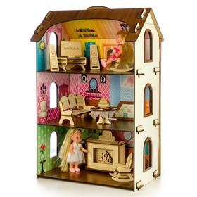 Деревянный домик с цветными обоями «Лоли» Ош