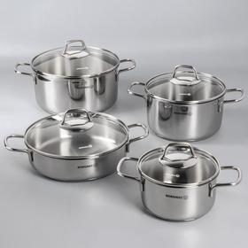 Набор посуды Perla, 4 предмета: кастрюля 1,8 л / 3,5 л / 5,5 л; жаровня 3 л