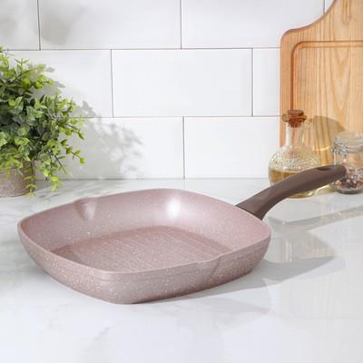 Сковорода-гриль Wilma cappuccino granite, 28×28 см - Фото 1