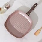 Сковорода-гриль Wilma cappuccino granite, 28×28 см - Фото 2