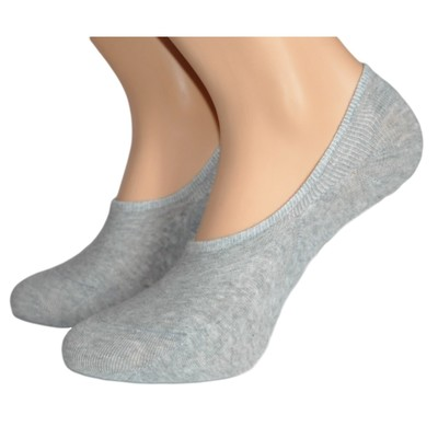 Носки детские невидимые, цвет серый, размер 16-18