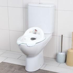 Детская накладка - сиденье на унитаз «ДИКИЙ ЗАПАД - ЛИСЕНОК» нескользящая, цвет белый/зеленый
