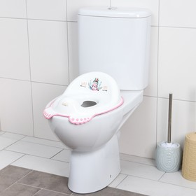Детская накладка - сиденье на унитаз «ДИКИЙ ЗАПАД - ЕДИНОРОГ» нескользящая, цвет белый/розовый