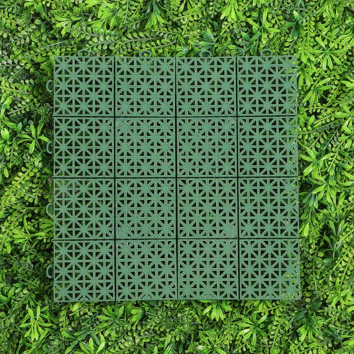 Модульное покрытие, 30 ? 30 ? 1,1 см, пластик, зелёный, 1 шт