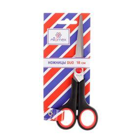 Ножницы Attomex Duo, 18 см, двухцветные, прорезиненные кольца Ош